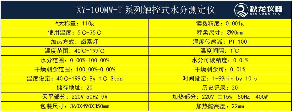 XY-100MW-T系列水分仪1